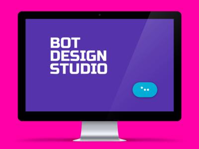Bot Design Studio  landing web animation digital visual ui