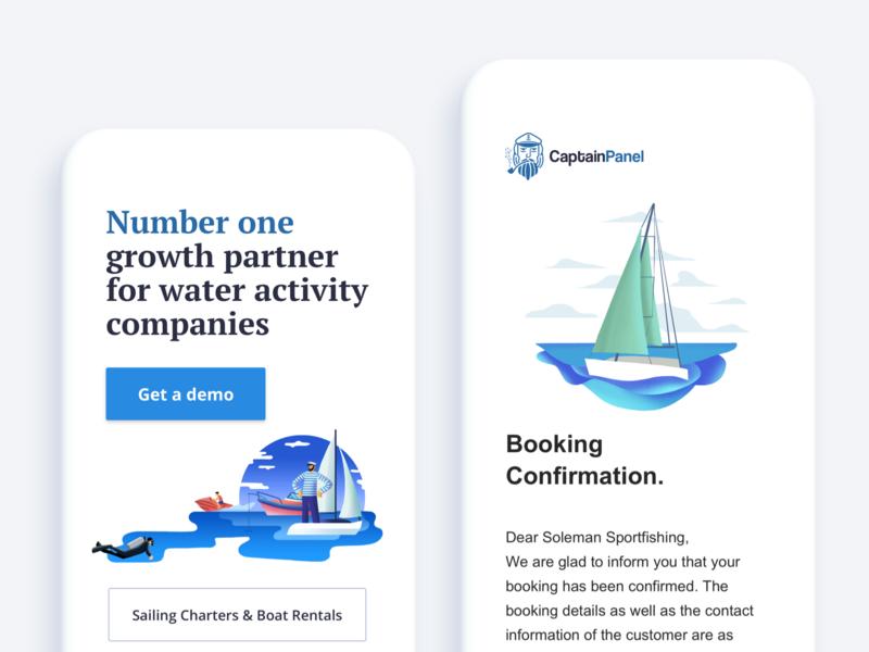CaptainPanel minimal design branding illustration brand blog animation website visual ux digital graphic typography web ui