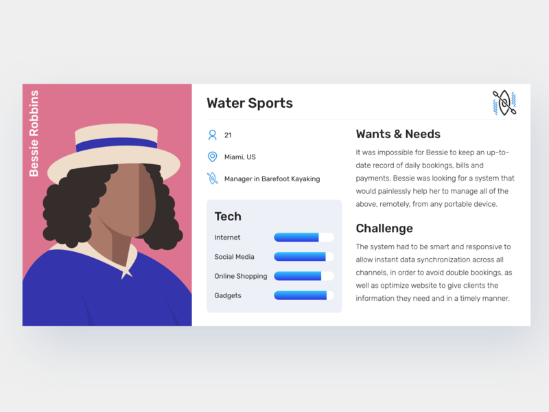 User Persona research design website visual ux digital graphic typography web ui