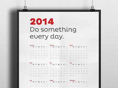 Do Something Calendar Poster calendar poster seinfeld productivity motivation