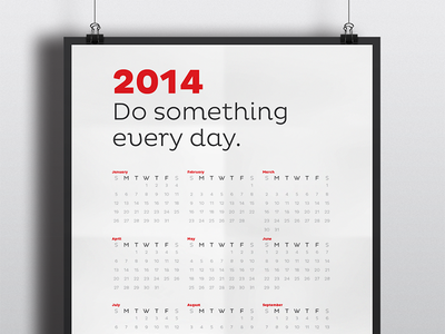 Do Something Calendar Poster