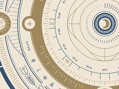 Make things for fun design illustration moon sun fantasy orrery