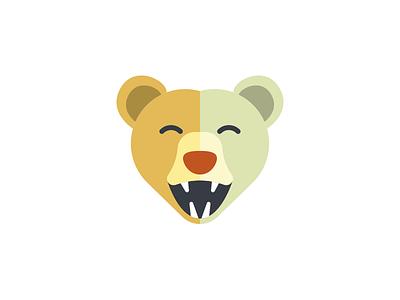 Happy Bear bear branding logo mark