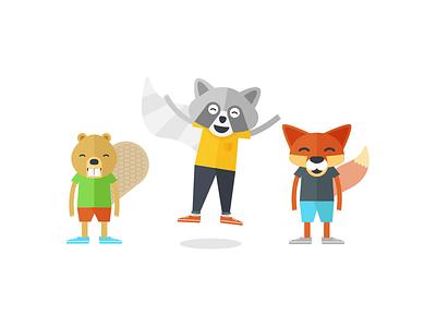 Forest Buds animal fox beaver raccoon music education teacher branding identity illustration colorful