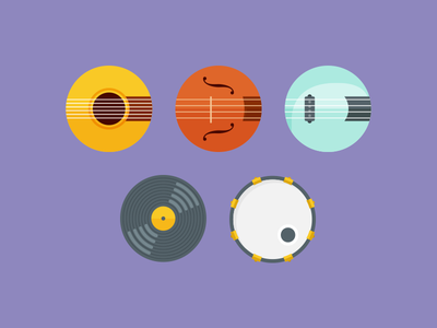 Instrument Icons instruments icons music guitar bass violin record dj drum