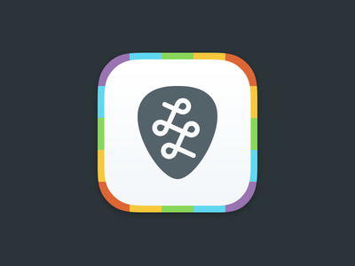 App Icon app icon ios flat colorful monogram