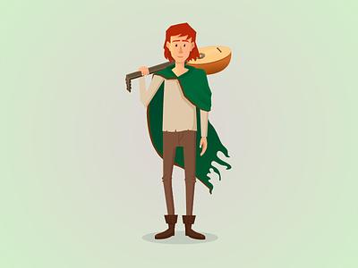 The Kingkiller Chronicle character illustration lute chronicle kingkiller fantasy kvothe