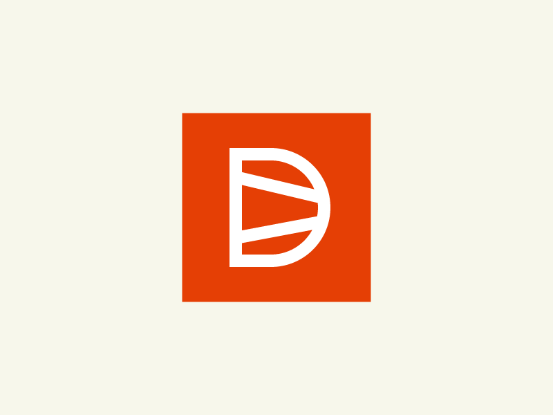 Dovetail Logomark monogram orange mark woodworking logo