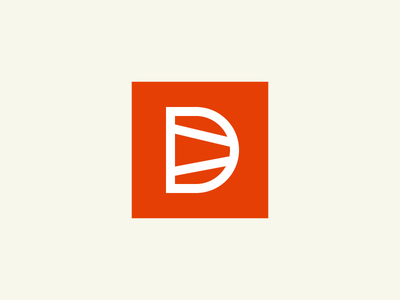 Dovetail Logomark monogram orange mark woodworking logo