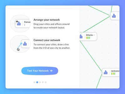 Network Builder 1/2 colorful gradient button bubble network