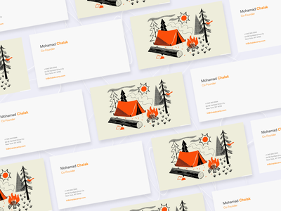 Business Card #003 illustration card business card awesome design online shot clean design colors ui new adobexd adobe