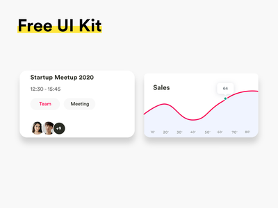 FREE UI Kit #006 free ui kit free download free ui kit popular awesome design uiux clean ui colors new adobexd adobe