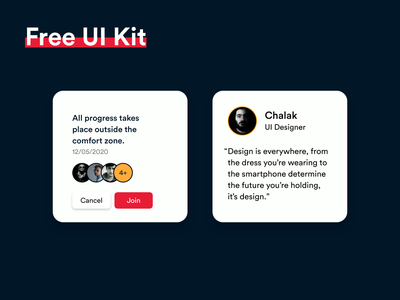 FREE UI Kit #011 download free ui kit ui kit app design white black popular illustration awesome design app clean design colors ui new adobexd