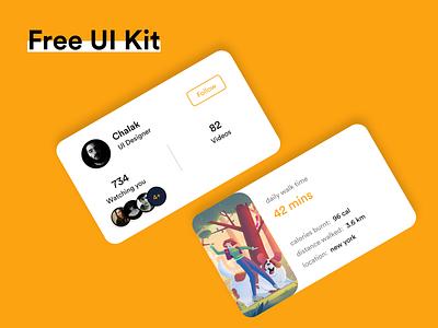 FREE UI Kit #014 download free ui kit ui kit app design white black popular illustration awesome design app clean design colors ui new adobexd