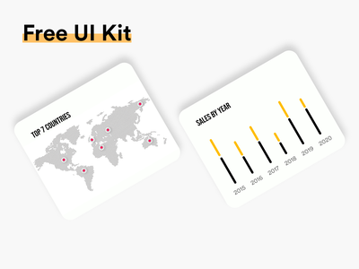 FREE UI Kit #015 download free ui kit ui kit app design white black popular illustration awesome design app clean design colors ui new adobexd
