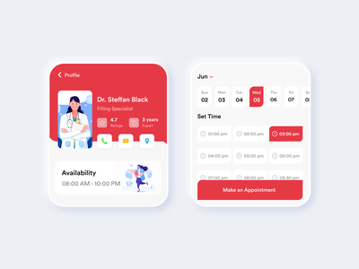 Dental Care Watch App #003 tooth red dental dentalcare watch app watch app design white black popular illustration awesome design app clean design colors ui new adobexd