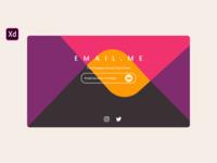 How to Design Sending Emails Website | Adobe Xd