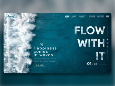Blue Sea Waves Flow With It