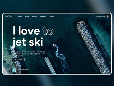Grand Blue Website- Rent a Jet ski uiux popular buy online webdesign web blue ocean jet ski sea psd white shot website design ui colors new adobexd adobe