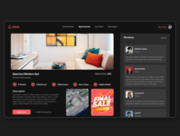 Airbnb Re-Design- Dark Version