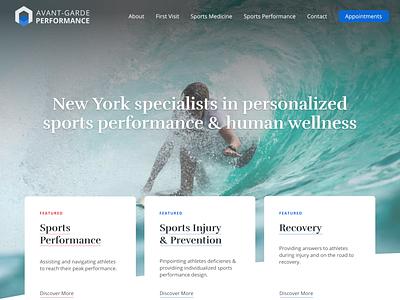 AGP - Landing Redesign ux vector website web logo ui typography branding design
