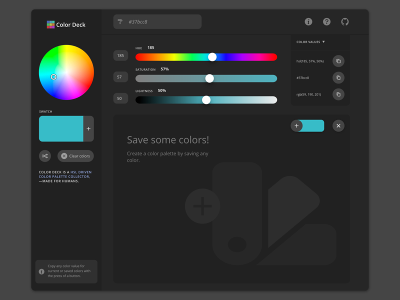 Color Deck - PWA redesign app logo flat vector website web ux ui design