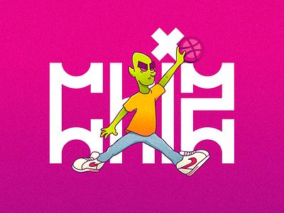 Start dribbble dribbble debut basketball ilustração illustration hiphop leemão chiz