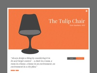 The Chair Website - Internal Page