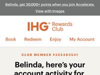 The IHG Rewards Club e-Statement by Matthew Hensler on Dribbble