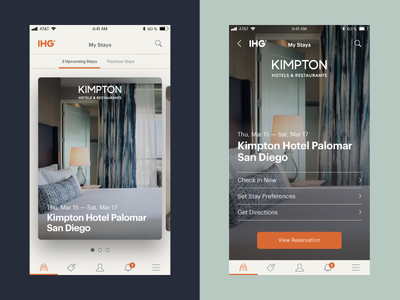 Upcoming Hotel Stays