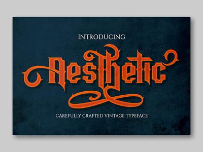 Aesthetic logotype font design fonts display font vintage badge vintage font blackletter