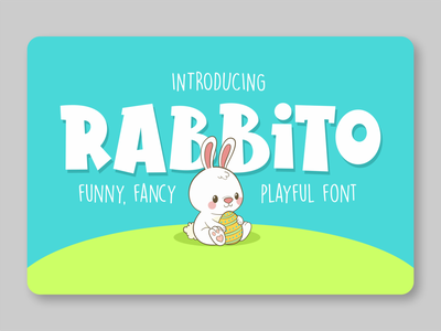 Rabbito logotype font awesome font design playful font kids font fancy font rabbit fonts