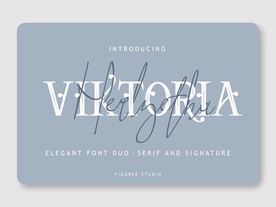 Viktoria Duo advertisement cover magazine siganture font handwritten font duo serif fonts serif