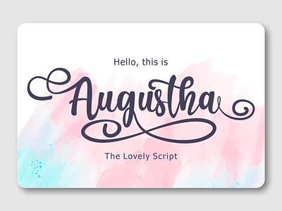 Augustha lovely script wedding font handwritten font logotype font design font awesome fonts