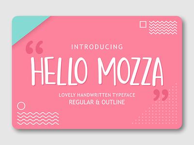 Hello Mozza display typeface packaging branding lyric font fancy font logotype font design font awesome fonts display display font