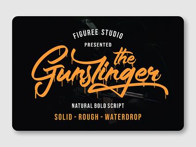 The Gunslinger rough responsive retro packaging logotypes bold font script font script vintage font branding logotype font design font awesome fonts