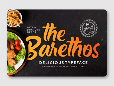 The Barethos packaging fancy font display typeface design illustration advertisement display font branding logotype font design font awesome fonts