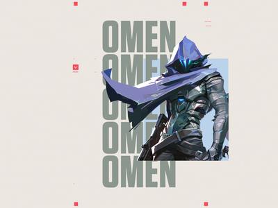 Valorant OMEN type text omen motiongraphics mograph motion animation keyart valorant