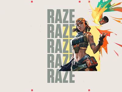 Valorant RAZE raze brasil valorant type typography logo gif motion animation motiongraphics