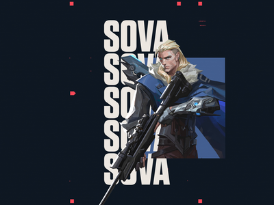 Valorant SOVA russian russia game brand gif logo text type esports esport animation