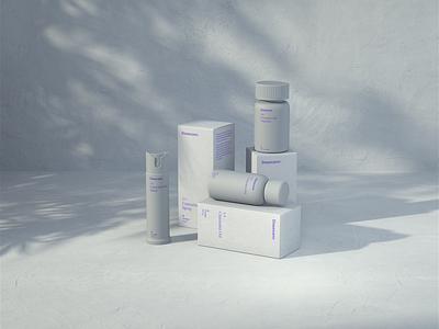 Dosecann Hybrid octane cinema4d weed boxes bottles render cannabis