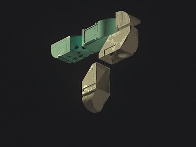 Numéro 7 nft cleannft numero number seven type typography