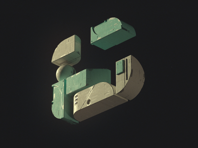 Numéro 6 octane 3d design cleannft nft girard nicolas type typography