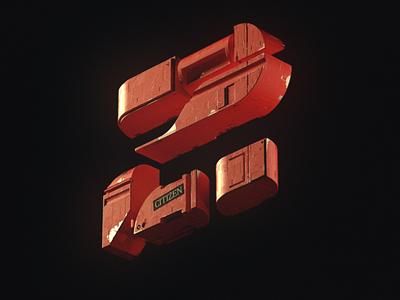 Numéro 2 typography type