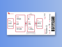 Daily UI | D24 Boarding Pass