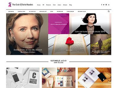 Serial Readers - theme redesign redesign wordpress ui web clean