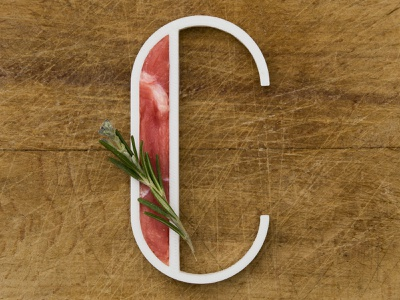 C for Carne (Meat) project vector typography typo real letter c illustration rosemary wood blender 3d blender alphabet a letter a day 3d print 3d meat letter c 36daysoftype 36days