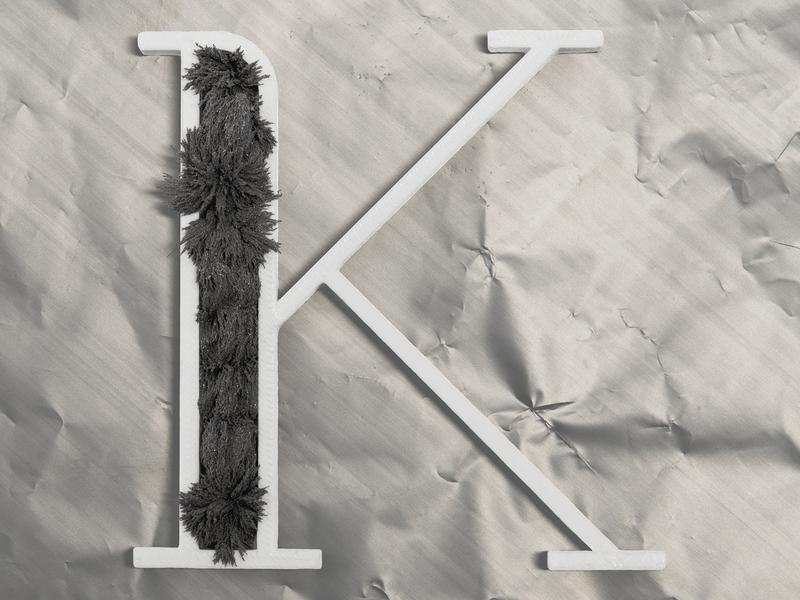 K for Kalashnikov (Kalashnikov) 3d 3d printing 3d printer real kalashnikov letter k a letter a day 36days 36daysoftype gray metal typo typography lettering vector blender dribbble work photo
