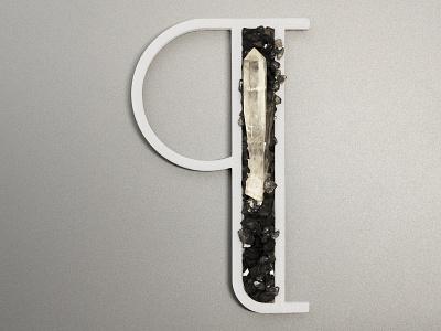 Q for Quarzo (Quartz) work project typo real lettering dribbble 3d object quartz q 3d letter 3d printing 3d print 36days letter 3d art typography 36daysoftype vector blender 3d