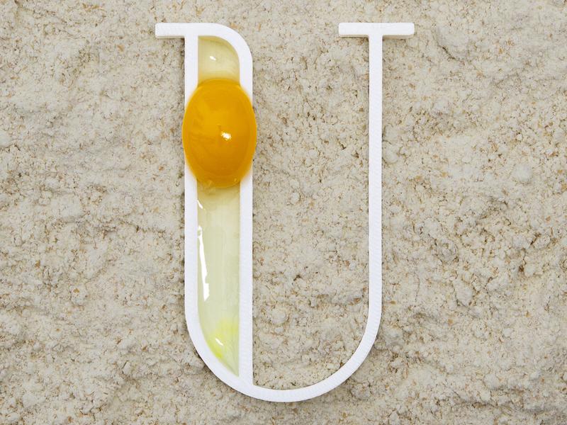 U for Uovo (Egg) uovo 3d letter egg flour typography typo u letter render blender dribbble work project real 3d printing 3d printer 3d print 3d 36daysoftype 36days